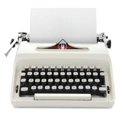 Character「タイプライター」:スマホ壁紙(19)