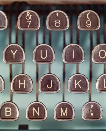 アーカイブ画像「タイプライターキー、クローズアップ」:スマホ壁紙(14)