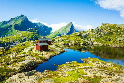 Lofoten「Dramatic mountain scenery of Lofoten Islands, Norway」:スマホ壁紙(18)
