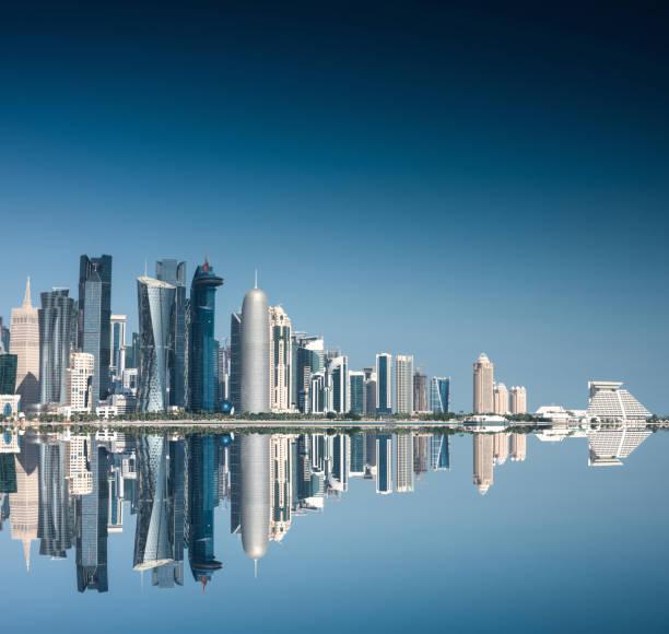 doha skyline reflections:スマホ壁紙(壁紙.com)