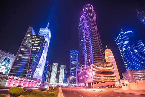 Luxury Hotel「doha skyline of the downtown in Qatar」:スマホ壁紙(10)