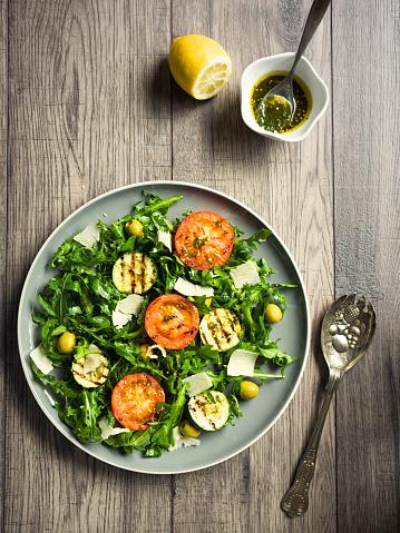 Leaf Vegetable「grilled tomatoes and rocket salad」:スマホ壁紙(15)