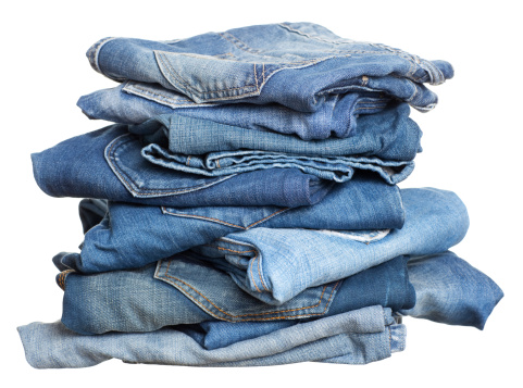 Casual Clothing「Heap of jeans before laundry.」:スマホ壁紙(11)