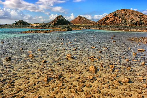 Atlantic Islands「Isla De Los Lobos In Fuerteventura, Canary Islands, Spain」:スマホ壁紙(1)