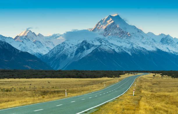 Road toaward Mount Cook, New Zealand:スマホ壁紙(壁紙.com)
