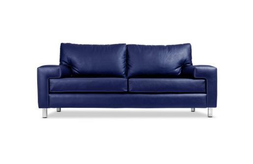 Blue「A blue leather sofa with silver legs」:スマホ壁紙(7)