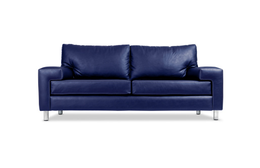 Clipping Path「A blue leather sofa with silver legs」:スマホ壁紙(2)