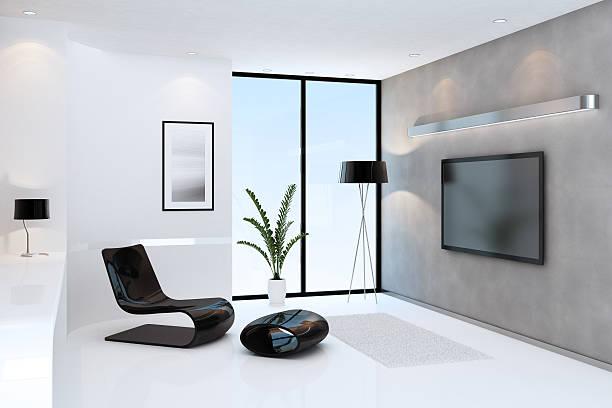 Modern Room with TV:スマホ壁紙(壁紙.com)