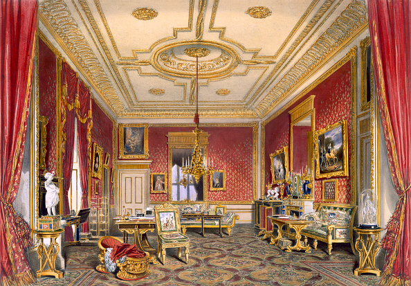 Chromolithograph「The Queen's Private Sitting Room Windsor Castle 1838」:写真・画像(1)[壁紙.com]