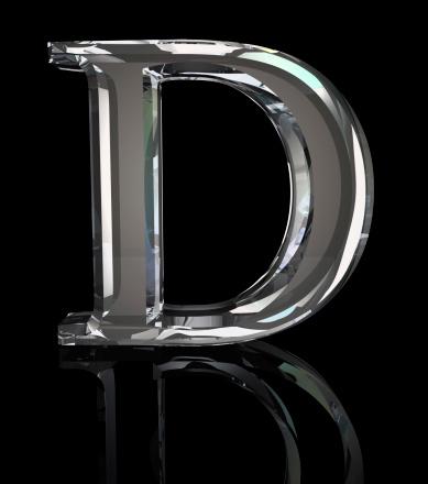 文字「クリスタル書 D」:スマホ壁紙(11)
