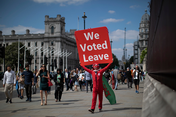 Brexit「Brexit Protesters Continue To Demonstrate In Westminster」:写真・画像(6)[壁紙.com]