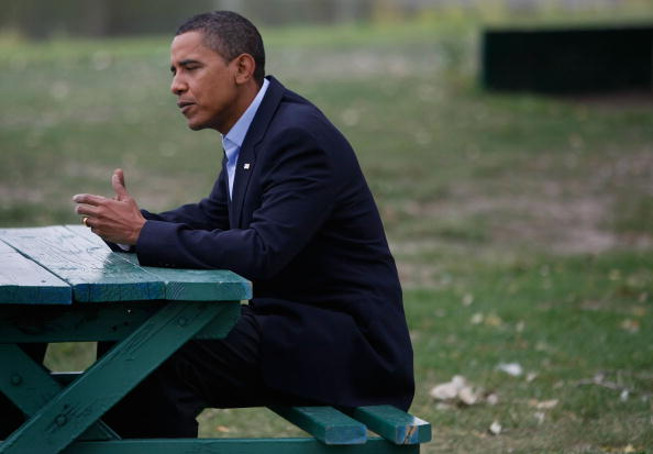 Picnic Table「Barack Obama Campaigns In Iowa, Missouri, And Montana Ahead Of The DNC」:写真・画像(19)[壁紙.com]