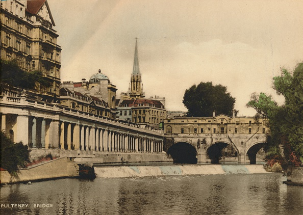 世界遺産「Pulteney Bridge, Bath, Somerset, c1925.」:写真・画像(3)[壁紙.com]