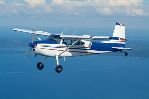 Propeller Airplane「Private Airplane In Flight」:スマホ壁紙(9)