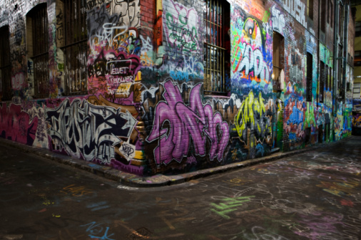 City Life「Australia, Melbourne, Graffiti on wall」:スマホ壁紙(15)