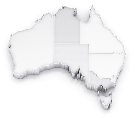 South Australia「Australia map with states white version」:スマホ壁紙(16)