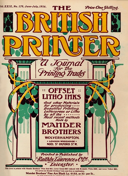 Yellow「The British Printer - Advert, 1916」:写真・画像(0)[壁紙.com]