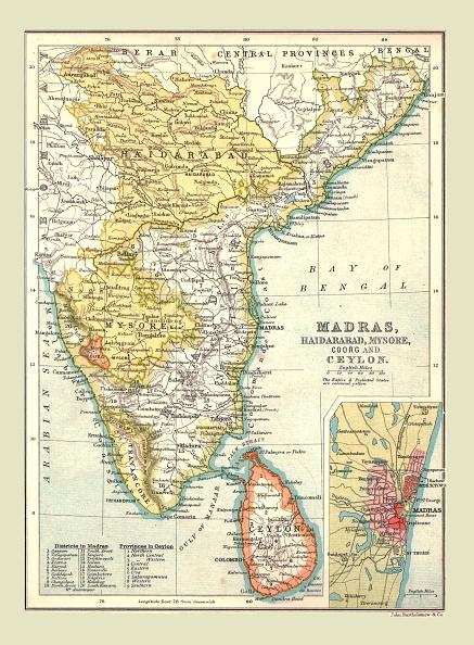 Tamil Nadu「Map Of Madras」:写真・画像(1)[壁紙.com]
