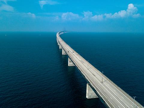 Sea「Oresund Bridge」:スマホ壁紙(15)