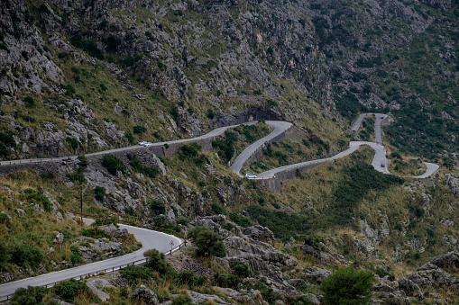 Mountain Pass「Spain, Mallorca, Sa Calobra, mountain road」:スマホ壁紙(9)