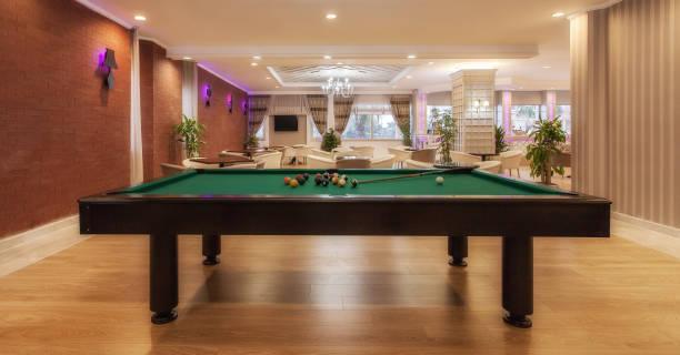 Luxury hotel lobby with pool table:スマホ壁紙(壁紙.com)