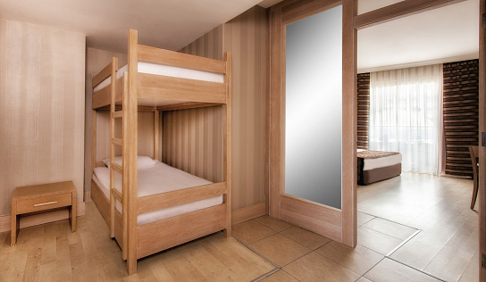 Motel「Luxury hotel Bedroom Interior with a Bed」:スマホ壁紙(1)