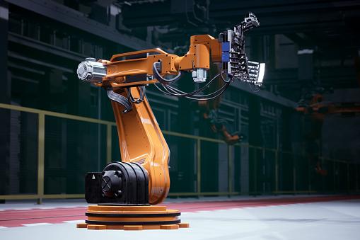 Arm「Orange robot in a factory」:スマホ壁紙(10)