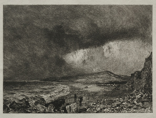 Etching「The Bay Of Weymouth. Creator: Maxime Lalanne (French」:写真・画像(12)[壁紙.com]