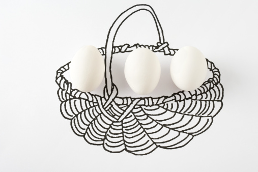 Animal Egg「Eggs in drawing of basket」:スマホ壁紙(7)