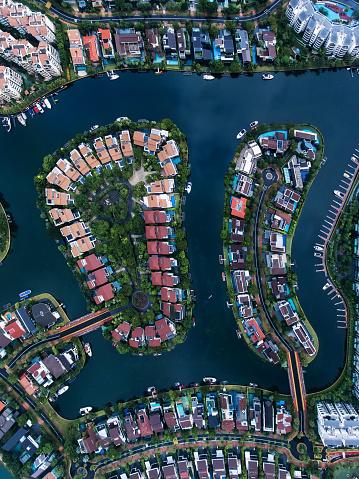 Miami Beach「Singapore Residential Area aerial view」:スマホ壁紙(17)
