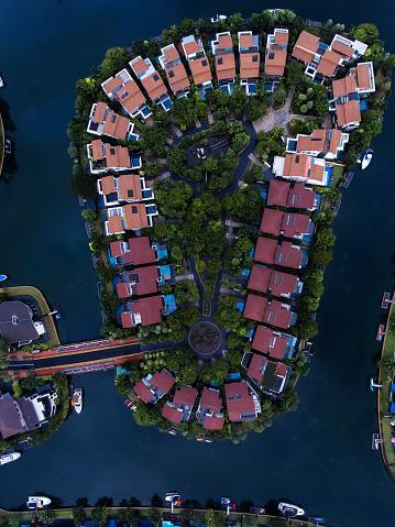 Miami Beach「Singapore Residential Area aerial view」:スマホ壁紙(19)