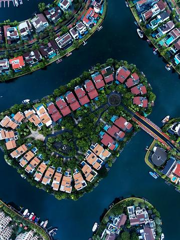 Miami Beach「Singapore Residential Area aerial view」:スマホ壁紙(13)
