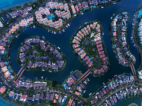 Miami Beach「シンガポール住宅地空撮」:スマホ壁紙(18)