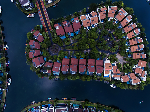 Miami Beach「Singapore Residential Area aerial view」:スマホ壁紙(1)