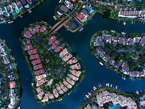 Miami Beach「Singapore Residential Area aerial view」:スマホ壁紙(15)