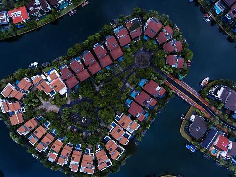 Miami Beach「Singapore Residential Area aerial view」:スマホ壁紙(11)