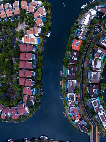 Miami Beach「Singapore Residential Area aerial view」:スマホ壁紙(2)