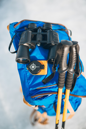 Steep「Hiking necessities-backpack, binoculars, compass and hiking poles」:スマホ壁紙(18)