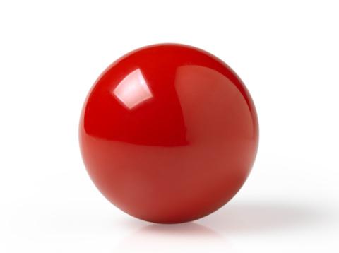 赤「Pool ball」:スマホ壁紙(11)