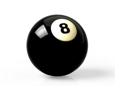 数字の8「Pool ball」:スマホ壁紙(7)