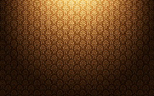 Renaissance「Brown damask wallpaper background」:スマホ壁紙(4)