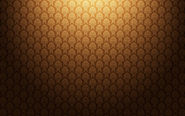 Brown damask wallpaper background:スマホ壁紙(壁紙.com)