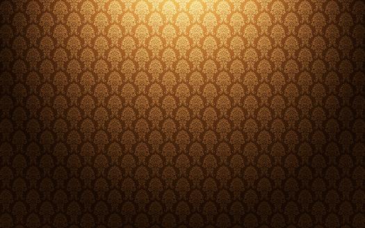 花柄「ブラウンのダマスクの壁紙を背景に」:スマホ壁紙(12)