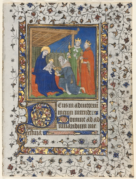 Manuscript「Bifolio From A Book Of Hours: Adoration Of The Magi」:写真・画像(13)[壁紙.com]
