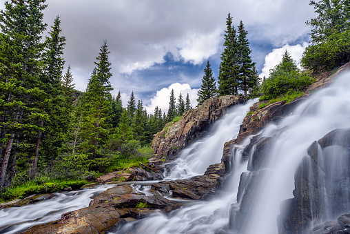Uncompahgre National Forest「Twin Falls」:スマホ壁紙(7)