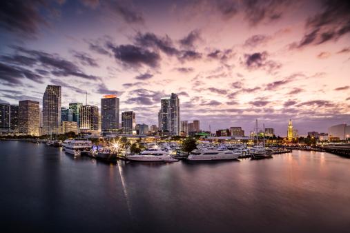 Miami「Miami harbour at dusk」:スマホ壁紙(13)
