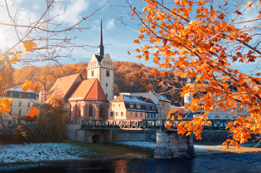 Auto Post Production Filter「historic center Untermhaus in Gera at autumn」:スマホ壁紙(2)