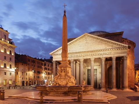 Town Square「Piazza della Rotonda at Dusk」:スマホ壁紙(8)