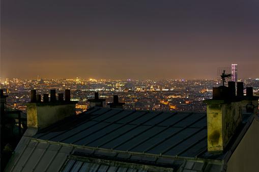 France「Paris skyline at night, France」:スマホ壁紙(19)