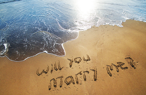 Sand「Will you marry me written in sand on beach」:スマホ壁紙(10)